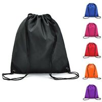 Drawstring Backpack Waterproof Canvas Travel Casual Solid Storage Bag Women NEW