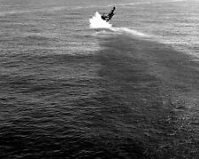 "U.S. Pilot crashes a Vought F4U-4 Corsair USS Boxer 8""x 10"" Korean War Photo 12"