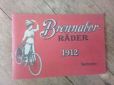 Brennabor Fahrradkatalog  1912 Nachdruck reprint copie catalogue vélo ancien
