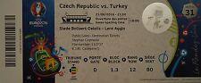 mint TICKET 21.6.2016 Czech Republic Tschechien - Turkey Türkei Match 31