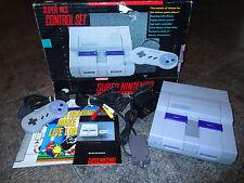 Super Nintendo SNES Console * COMPLETE IN BOX CiB  BOXED * FREE SHIPPING
