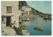 Postcard, Friths, PPO 227 C.T., Polperro looking towards the Harbour.