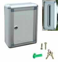 Aluminum Drop Box Suggestion Mail Comment Ballet Key Lock Wall Mount Office Home