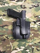 Black Carbon Fiber Kydex Glock 17/22/31 Threaded Barrel Holster
