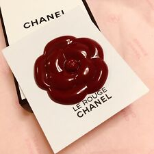 CHANEL Le Rouge Camellia Magnet Brooch Badge Rare VIP Gift
