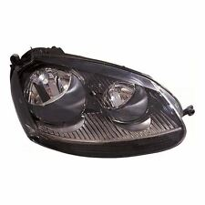 VW Golf Mk5 Type R Hatchback 10/2003-6/2009 Black Headlight Lamp Drivers Side