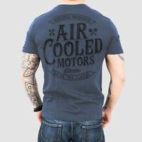 Aircooled Motors T-Shirt Blau // VW Luftgekühlt Käfer Typ T1 Transporter T2