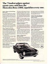 1967 MERCEDES-BENZ 230SL ~ CLASSIC ORIGINAL PRINT AD