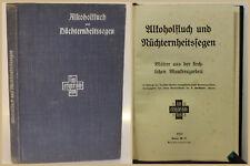 Alkoholfluch und Nüchternheitssegen 1913 Blaue Kreuz Religion Christentum xy