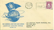Ireland 1945 FFC First Flight cover Limerick London American Airlines System