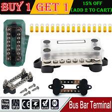 Bus Bar Electrical Terminal Junction Box 12 volt 6 way dual 100 amp 4 stud Kits