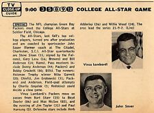 1966 TV FOOTBALL AD~VINCE LOMBARDI GREEN BAY PACKERS~COLLEGE ALL STAR~JOHN SAUER