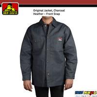 22670647cc NWT Ben Davis Mens Jacket Original Snap Front Blanket Lining Charcoal Style  #391
