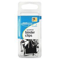 Swingline Binder Clip - Assorted - 15 / Pack - Black (SWI71753)