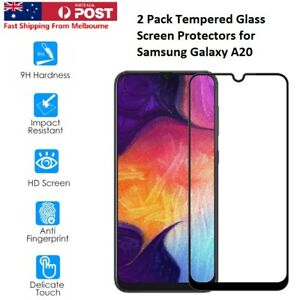 For Samsung Galaxy A20 Tempered Glass 9H Screen Protectors 2 PACK