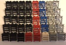 44 LEGO 4x Eisenbahn Treppen Leiter in Schwarz