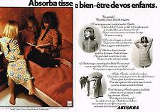 PUBLICITE ADVERTISING 074  1972  ABSORBA  pyjamas chemises de nuit enfants ( 2 p