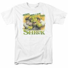 Shrek Ogres Need Love T Shirt Licensed Cartoon Comedy Movie Retro Tee New White