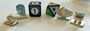 """Scene It? """"Movie Second Edition"""" Replacement Tokens & Dice Game Pieces"""