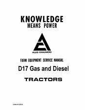 Allis Chalmers D17 Tractor Service Manual Book Reproduction