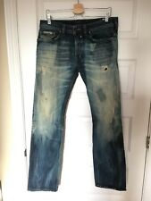 32 x 34 48 DIESEL Safado 008L9 Straight Slim Denim Jeans