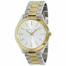 Michael Kors MK3198 Slim Runway Silver Dial Gold/Silver Two tone Unisex Watch