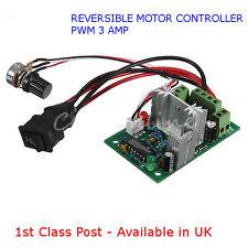 Motor de corriente continua Reversible-controlador de velocidad - 10V-30V Regulador PWM 3A-disponible en Reino Unido