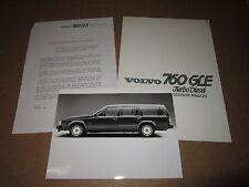 INFORMAZIONI STAMPA VOLVO 760 GLE TURBO DIESEL ANNO 1985 CON FOTO