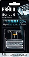BRAUN 51S 8000 Series 5 360 Complete Activator ContourPro Shaver Foil & Cutter H