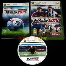 PRO EVOLUTION SOCCER 2010 XBOX 360 Versione Italiana PES 1ª Edizione •• COMPLETO