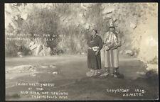 1915 Rppc, Julia & Prettyhorse At Hot Springs, Thermpoplis, Wy. Griffeth House