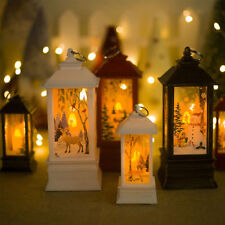 Christmas Candle Decorations LED Lantern Hanging Candlestick Party Vintage Decor