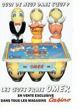 Publicité Advertising 037  1990   Magasins Casino jeu concours Oeufs Omer