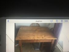 solid pine table and 4 chairs Collect From L396TB