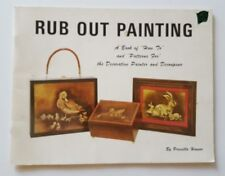 Priscilla Hauser Book Rub Out Painting Tole Decoupage Patterns Vtg 1972