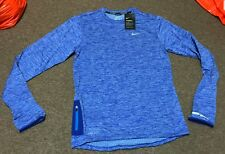 NIKE Therma Sphere Element DriFit Long Sleeve Running Shirt 807453 422 SZ S BLUE