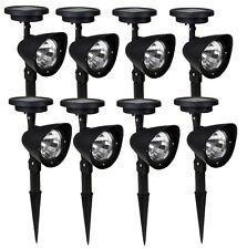 8x Solar Spot Light Outdoor Garden Lawn Landscape LED Spotlight Path Lamp 4-LED
