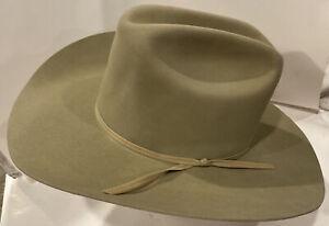 RESISTOL WESTERN HAT Size 7 1/4 TAN 4X BEAVER LONG OVAL Self Conforming Cowboy
