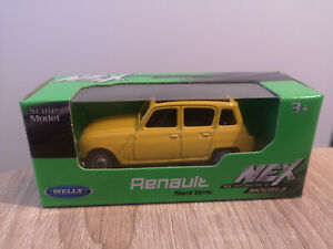 Welly NEX Renault 4, Yellow, No. 52362 - 1:64 1/64 1:60 1/60