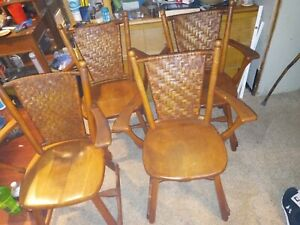 old hickory kitchen chairs
