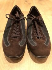 Tods Tod's Black Brown Green Leather Suede Driving Shoes Sneakers Mens US 5.5