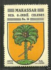 Makassar Coat of Arms Celebes Sulawesi Indonesia ca 1925