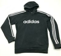 Adidas Sweater Hoodie Size Small S Black White Hooded Pullover Long Sleeve Men's