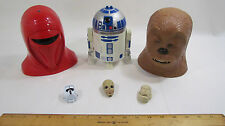 Lot of 3 Small and 3 Big Star Wars Micro Machines Transforming Head Playsets