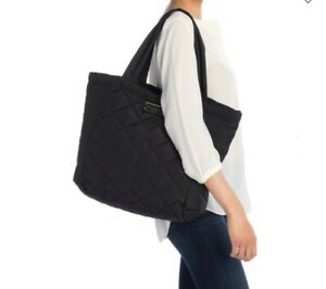 NWT. Marc Jacobs Large Quilted Nylon Tote (Black)