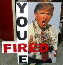 "STEVE KAUFMAN: DONALD TRUMP ""YOU'RE FIRED"" HAND SIGNED: AMAZING CONDITION & COA."
