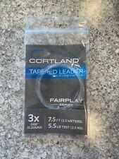 4 Packs Cortland Fairplay Tapered Leader 3X