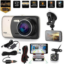 """4"""" In Car DVR Hardwire Kit Front and Rear Camera HD 1080P Dash Cam Night Vision"""