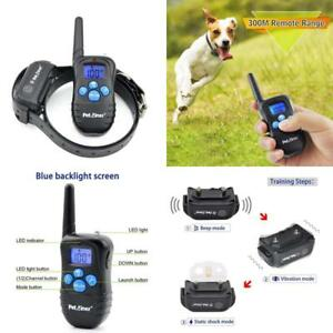 Petrainer 100% Waterproof And Rechargeable Dog Shock Collar 330 Yd Remote Dog Tr