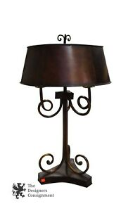 """Uttermost 3 Light Rustic Torchiere French Table Lamp Metal Designer Accent 35"""""""